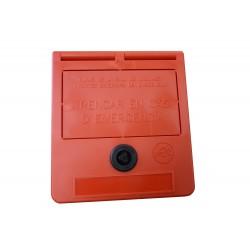 Caja llaves de emergencia (texto en catalán)