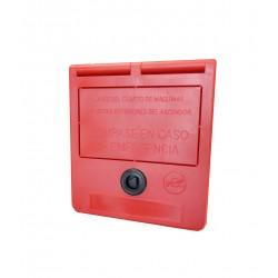 Caja llaves de emergencia (texto en castellano)