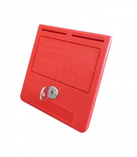 Caja llaves de emergencia texto castellano (llave bombín)