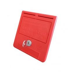 Caja llaves de emergencia texto castellano (llave y bombín)