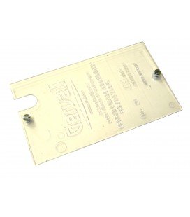 Tapa de policarbonato transparente cerradura izquierda