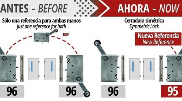 La cerradura de seguridad modelo 96 ahora tiene mano