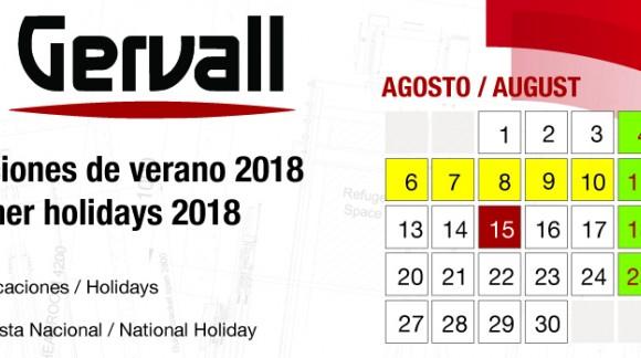 2018 Summer holidays